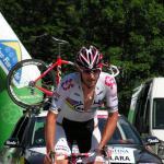 Fabian Cancellara als EZF-Weltmeister auf dem Weg zum Klausenpass im BZF der Tour de Suisse 2008