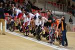 Aufstellung zum Rennen Platz 5 bis 8 im Sprint-Wettbewerb der Männer