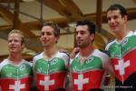 kaputt aber glücklich - die Schweizer gewinnen die Mannschaftsverfolgung