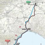 Streckenkarte von Milano - Sanremo 2017