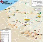 Streckenkarte von Gent - Wevelgem 2017