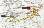 Streckenkarte von La Flèche Wallonne 2017
