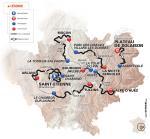Präsentation des Critérium du Dauphiné 2017: Streckenkarte