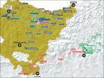 Präsentation der Baskenland-Rundfahrt 2017: Streckenkarte