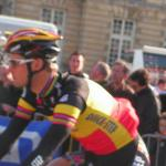 Tom Boonen am Start von Paris-Roubaix 2010