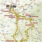 Streckenverlauf Liège - Bastogne - Liège 2017