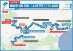 Streckenverlauf Route du Sud - la Dépêche du Midi 2017
