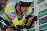 Rohan Dennis beim Start zu seiner Rekordfahrt auf der 1. Etappe der Tour de Suisse