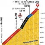 Höhenprofil Tour de France 2017 - Etappe 15, Col de Peyra Taillade