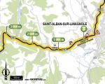 Streckenverlauf Tour de France 2017 - Etappe 15, Zwischensprint