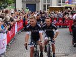 Bora-hansgrohe (u.a. Rafal Majka) bei der Teampräsentation der Tour de France 2017 in Düsseldorf. Foto: LIVE-Radsport.com