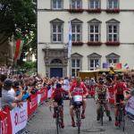Marcel Sieberg und Kollegen bei der Teampräsentation der Tour de France 2017 in Düsseldorf. Foto: LIVE-Radsport.com