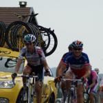 im französischen Meistertrikot bei der Tour de France 2010 im Jura an der Station des Rousses