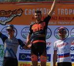 Andrew L'Esperance, Etappensieger Leandre Bouchard und Anton Sintsov (Foto: MarathonMTB.com)
