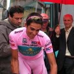 Alberto Contador im Rosa Trikot beim Giro d'Italia 2008