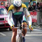 Alberto Contador im Zeitfahren beim Critérium du Dauphiné 2009
