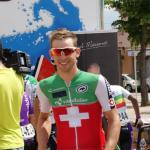 Fabian Lienhard im Schweizer Nationaltrikot bei der Tour Alsace 2017