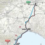 Streckenverlauf Milano - Sanremo 2018