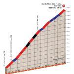 Streckenpräsentation Critérium du Dauphiné 2018: Profil Etappe 4, Anstieg Col du Mont Noir
