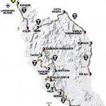 Streckenverlauf Le Tour de Langkawi 2018