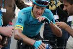 Jakob Fuglsang unmittelbar nach seiner Zielankunft auf der Königsetappe der Tour de Romandie