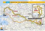 Streckenverlauf Tour de France 2018 - Etappe 6