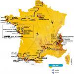 Die Streckenkarte der Tour de France 2018