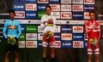 Das Podium des U23-Zeitfahrens von Innsbruck mit Brent Van Moer, Mikkel Bjerg und Mathias Norsgaard Jørgensen (Foto: Heike Oberfeuchtner/H.O.)