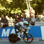 Der unangefochtene neue Weltmeister im Einzelzeitfahren: Rohan Dennis (Foto: Heike Oberfeuchtner/H.O.)