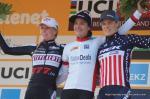 Das Podium der Frauen: Annemarie Worst, Siegerin Marianne Vos und Katherine Compton