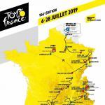 Präsentation Tour de France 2018: Streckenkarte