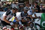 ... vorm Start der vorletzten Etappe der Tour de Suisse 2018