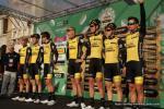 Als Team erfolgreich: Jumbo Visma, hier noch unter dem alten Sponsor Lotto bei Il Lombardia 2018 (Foto: Christine Kroth)