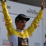 Hat den Gesamtsieg bei der UAE Tour praktisch sicher: Primoz Roglic, hier bei der Tour de Romandie 2018, die er ebenfalls gewinnen konnte (Foto: Christine Kroth/cycling and more)