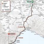 Streckenverlauf Milano - Sanremo 2019