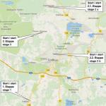 Streckenverlauf Internationale Cottbuser Junioren-Etappenfahrt 2019