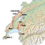 Streckenpräsentation der Tour de Romandie 2019: Karte