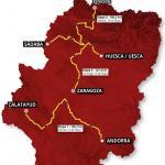 Streckenverlauf Vuelta Aragón 2019