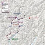 Die neue Streckenkarte der 16. Etappe des Giro d'Italia