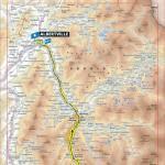 Streckenverlauf Tour de France 2019 - Etappe 20 (neue, verkürzte Strecke)