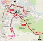 Streckenverlauf Tour de France 2019 - Etappe 3, letzte 5 km