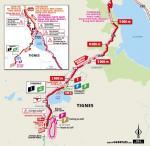Streckenverlauf Tour de France 2019 - Etappe 19, letzte 5 km