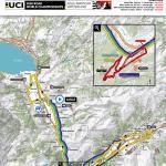 Straßen-Weltmeisterschaft 2020 in Aigle-Martigny: Karte der Straßenrennen