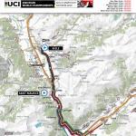 Straßen-Weltmeisterschaft 2020 in Aigle-Martigny: Karte der Zeitfahren