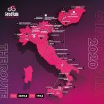 Präsentation Giro d Italia 2020: Streckenkarte