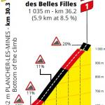 Höhenprofil Tour de France 2020 - Etappe 20, La Planche des Belles Filles