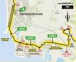 Streckenverlauf Tour de France 2020 - Etappe 10, Zwischensprint