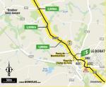 Streckenverlauf Tour de France 2020 - Etappe 12, Zwischensprint