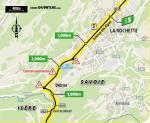 Streckenverlauf Tour de France 2020 - Etappe 17, Zwischensprint