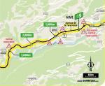 Streckenverlauf Tour de France 2020 - Etappe 18, Zwischensprint